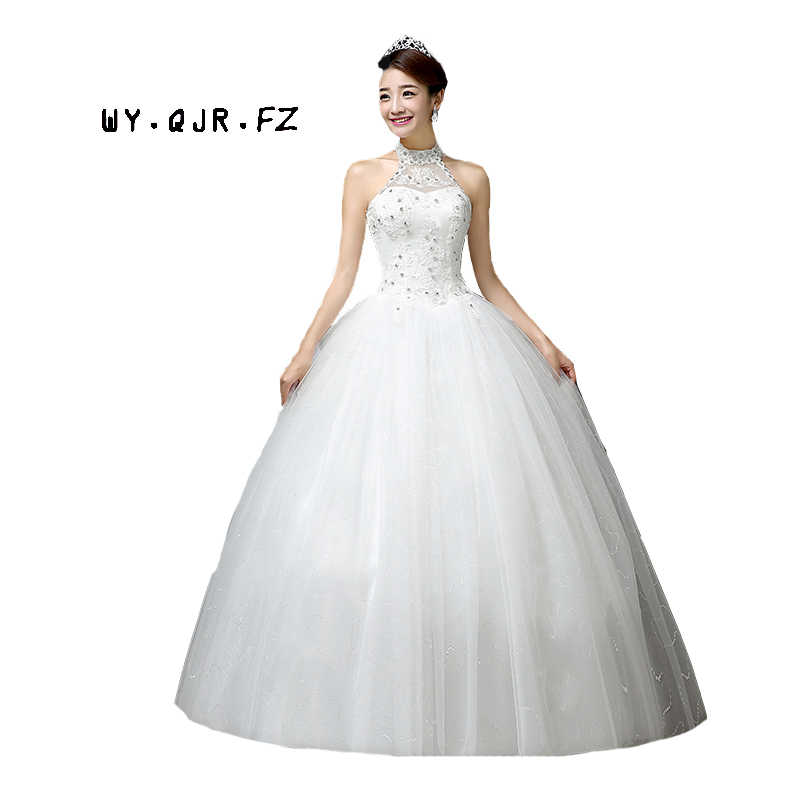 e3df53cd4f23 LYG-H63#Manufacturers selling new Korean Halter Bride's wedding dress Lace  Up plus size