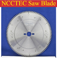 10'' 120 teeth 254mm Carbide saw blade with Silencer holes for cutting melamine faced chipboard | Left-Right face angle teeth