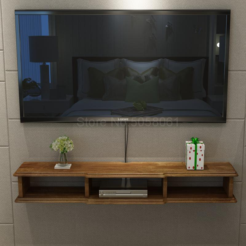 Solid Wood Wall Mounted Set Top Box