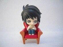 Huong Anime Figure 10 CM Cartoon Nendoroid Cute DEATH NOTE Lawliet PVC Action Figure Colletible Model Toy