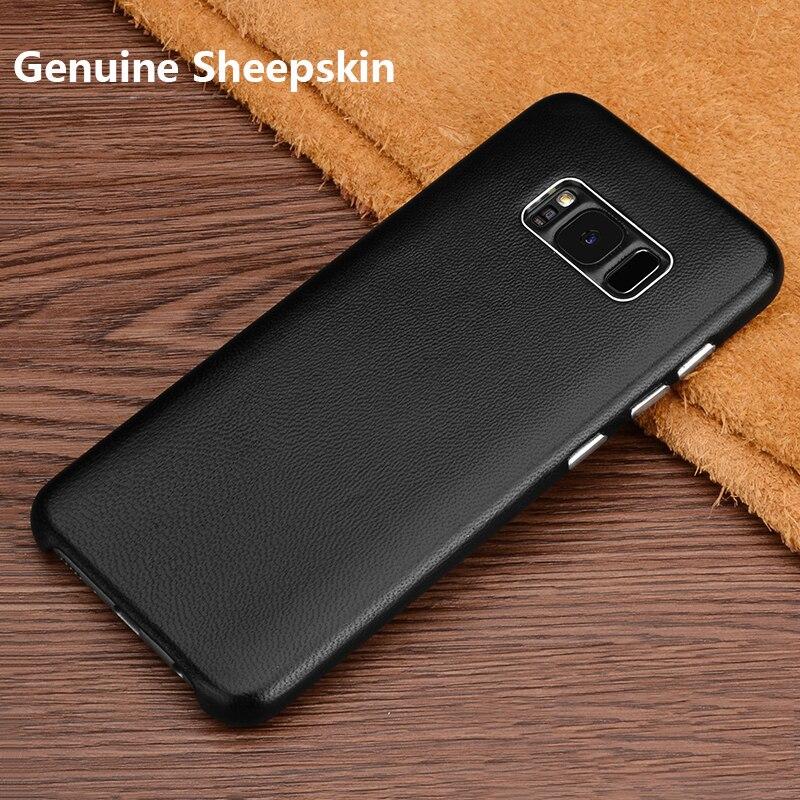 Untuk Samsung Galaxy S8 Ditambah Kasus Penutup Mewah Kulit Asli Keras - Aksesori dan suku cadang ponsel - Foto 2