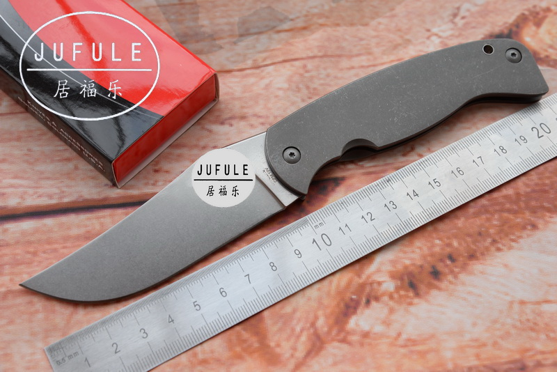 JUFULE C185 FARID-K2 Folding Blade CPM10V Blade Titanium Handle Tactical Camping Hunting Survival kitchen Outdoor EDC Tool Knife enlan bee el 12 el 12ht gray 8cr13mov folding blade black g10 handle outdoor hunting tactical camping climbing edc carry tool
