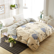 1 piece Duvet Cover Plant Floral Pattern Quilt Comforter Bedding Bag Adult Child Single Twin Queen King Big Size 180x220 200x230(China)