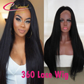 8A 360 Lace Wigs Thick Silky Straight Malaysian Virgin Hair Best Quality Lace Front Full Lace Wig Pre Plucked Natural Hairline
