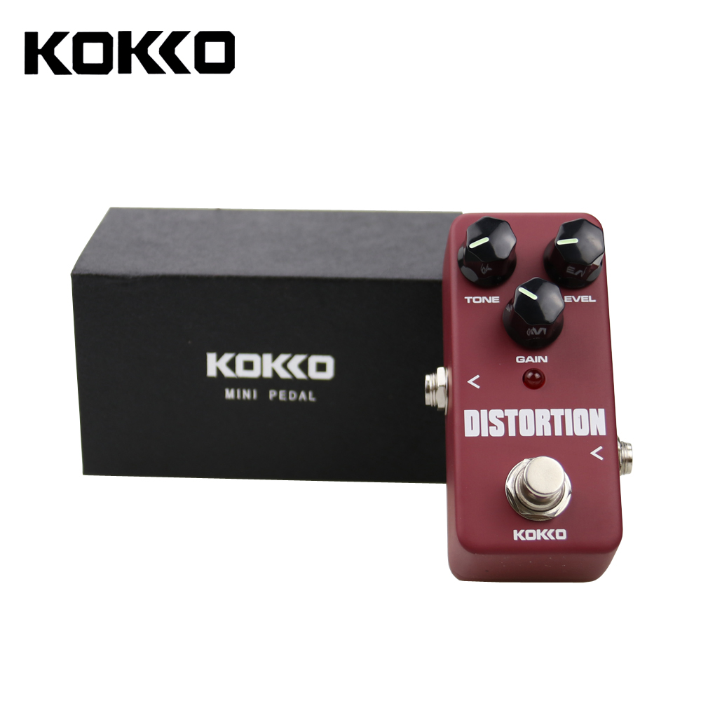 KOKKO FDS2 Mini Distortion Pedal Portable Guitar Effect Pedal Guitar Parts & Accessories aroma adr 3 dumbler amp simulator guitar effect pedal mini single pedals with true bypass aluminium alloy guitar accessories
