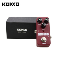 KOKKO FDS2 Mini Distortion Pedal Portable Guitar Effect Pedal Guitar Parts Accessories