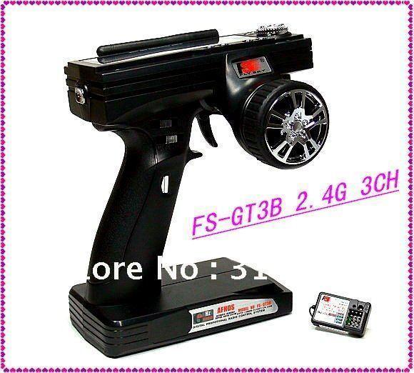Flysky FS-GT3B 2.4G 3CH Gun Transmitter Receiver RC Car Boat FS GT3B +Free Shipping