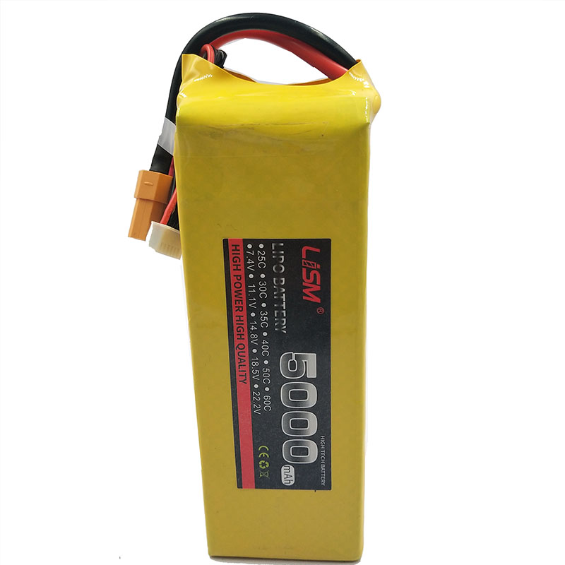 Hot sale 6S 22.2V 5000mAh 60C RC Helicopter LiPo battery Max 120C For RC Airplane Quadrotor Drone AKKU RC LiPo battery 6S#20F10 image