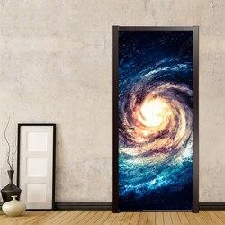 2 sztuk/zestaw kreatywny DIY 3D naklejki na drzwi  ścianę nowoczesny oszczędny wszechświata gwiaździste niebo  tapety naklejki ścienne dla dzieci naklejki do sypialni w Naklejki na drzwi od Dom i ogród na
