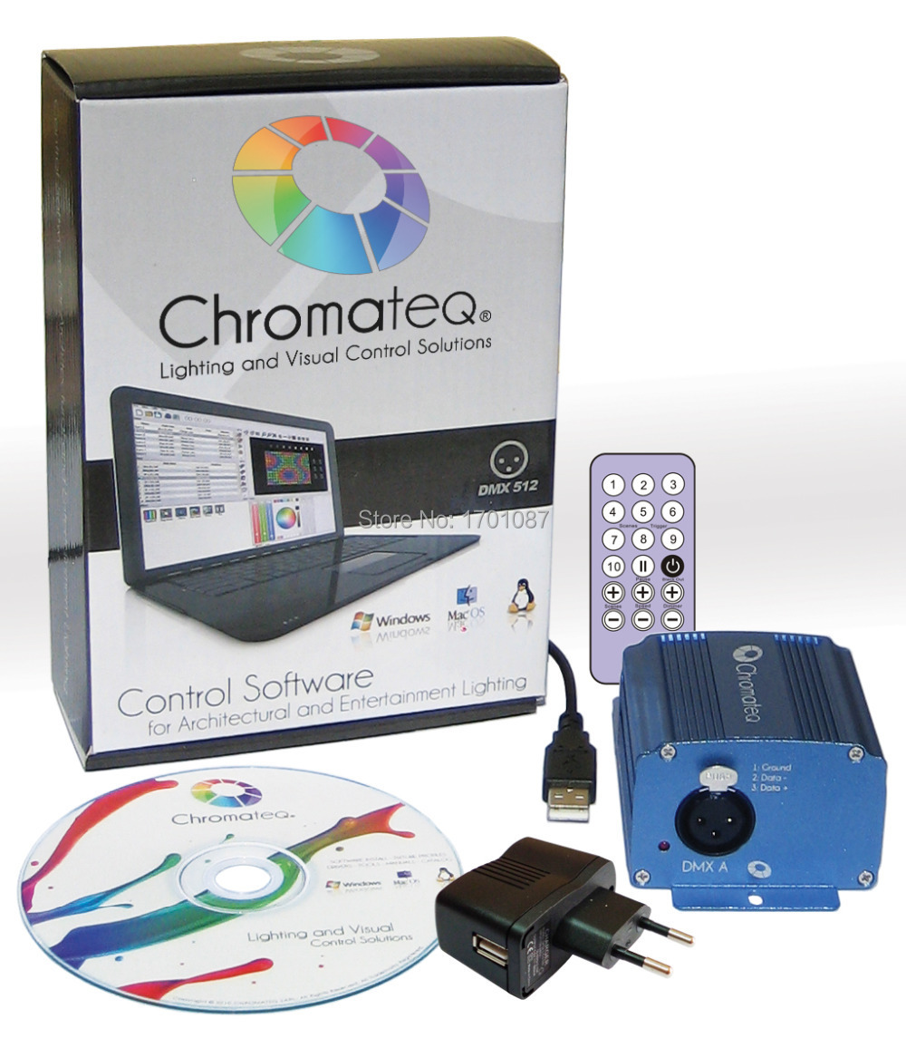 US $285 0 |chromateq lighting control system , dmx controller , usb dmx 512  led lighting and visual control solution   SOFTWARE FREE UPDATE on