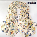 2014 hot women winter scarf flowers butterfly fashion style silk scarf polka velvet scarf chiffon Bohemia Scarf Min. Order is $5