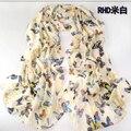 Mulheres quentes cachecol de inverno flores borboleta lenço de seda lenço de bolinhas de veludo chiffon Bohemia cachecol $ 5