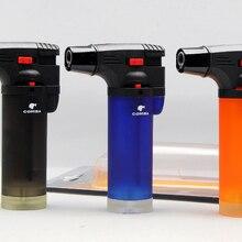 COHIBA мини сигарета зажигалка фонарь Jet зажигалка многоразовая газовая зажигалка с красочной бутылкой-черный/синий/оранжевый