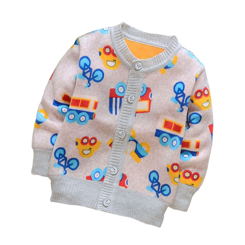 BibiCola spring autumn baby girls/boys candy color cardigan sweater children add velvet outerwear sewater kids Knitting coat