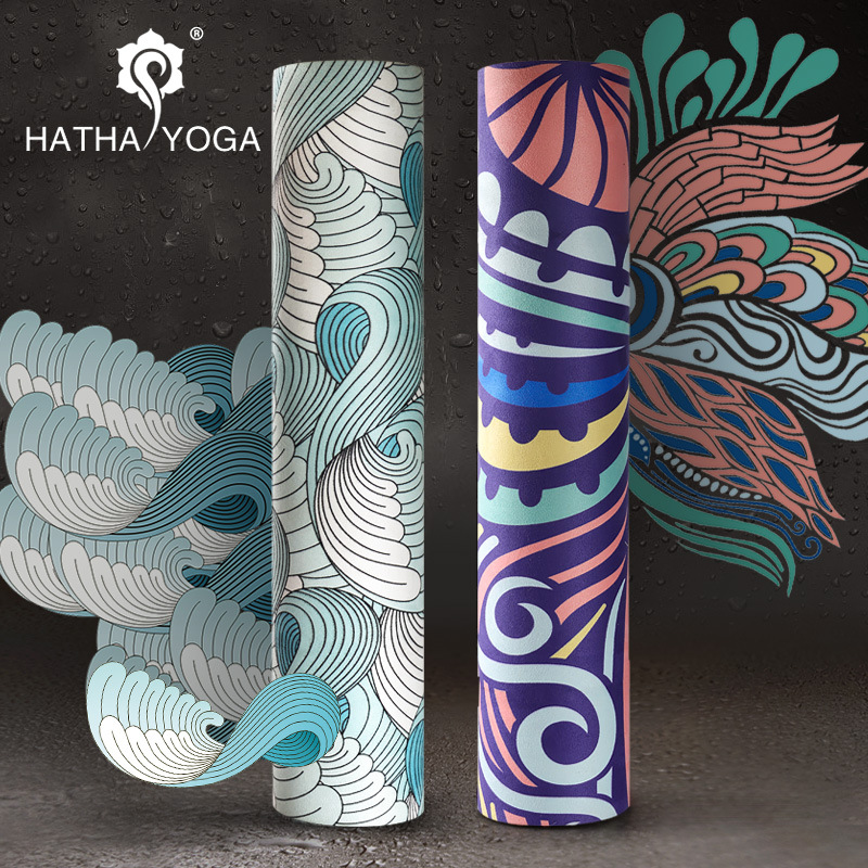New Huan natural rubber yoga mat professional non-slip high temperature sweat-absorbent Yoga blanket lengthened fitness mat advanced rubber yoga mat pad exercises mat pad non slip sweat absorbent home gym fitness yoga exercises sports mat 183 68 0 5cm