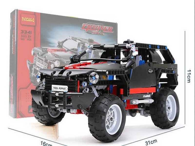 Décool 3341 Technic City série l'extrême Cruiser SUV voiture Figure blocs briques de construction jouets pour enfants Compatible Legoe