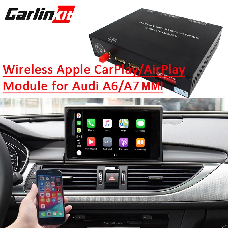 US $480 0 |Carlinkit Aftermarket Wireless Apple CarPlay A6 A7 MMI Solution  Retrofit with Reverse Camera for Audi A6 A7 3G/3G+MMI -in Car Multimedia