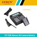 Lvsun câmera nb-5l nb5l bateria carregador duplo para canon s110 sx200 sx210 SX220 HS SX230 IS IXUS 850 870 800 860 990 SD 950 970