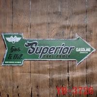 NOWOŚĆ! benzyna Metalu Znak Strzałki Kształt Plakietka Emaliowana Metal Plakat tablica Reklamowa Pub & Home Wall Art Decor Płyta Metalowa Płytka