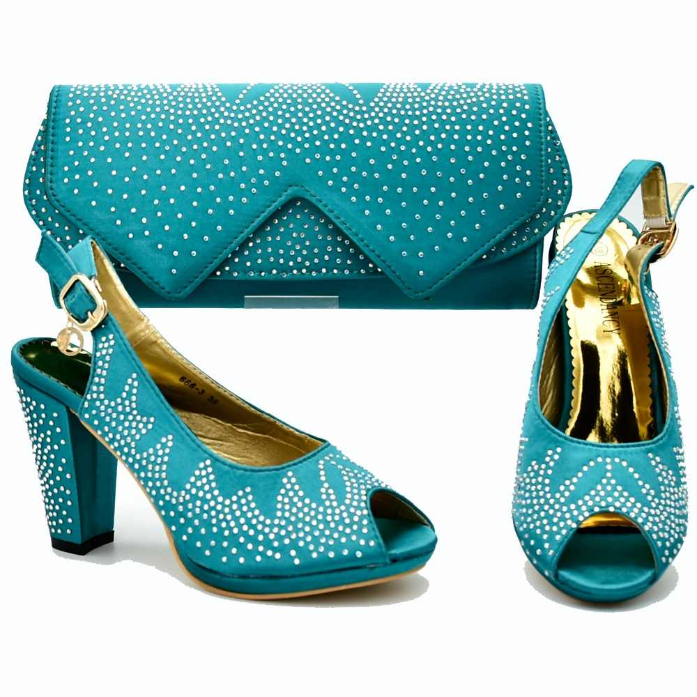 48c80483ae Teal green african aso ebi party high heel with size 37 to 42 shoes ...