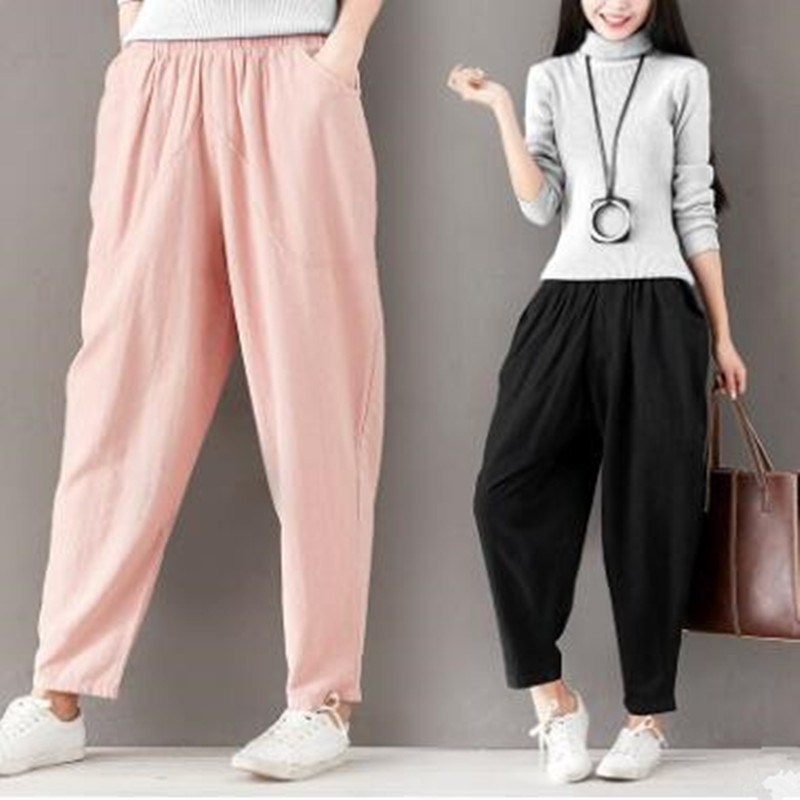 2019 new style casual pants women's big size trousers 1