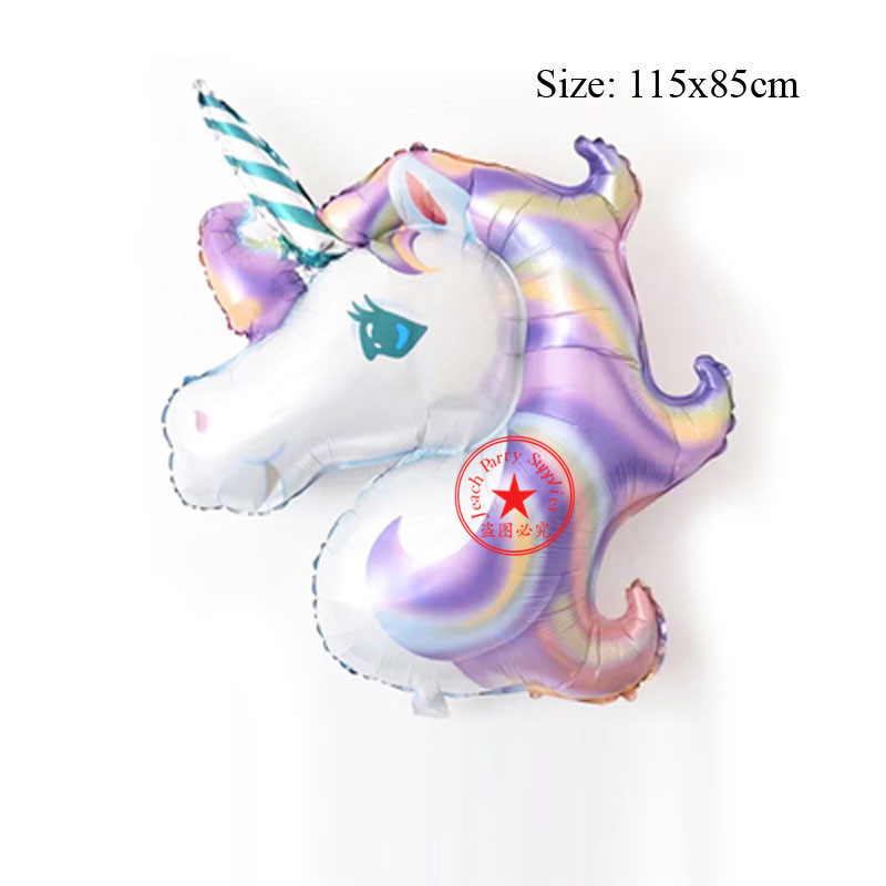 balloon unicorn party decorations unicorn birthday supplies unicorn girl birthday decoration helium big unicorn balloon in Ballons Accessories from Home Garden