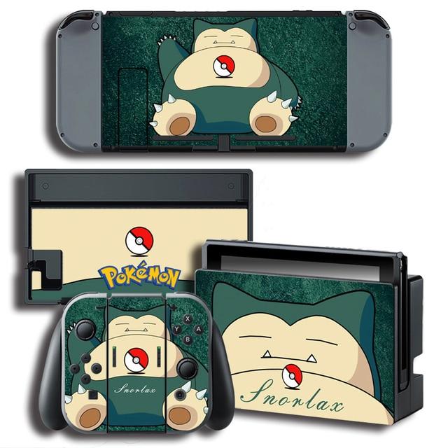 Autocollants vinyle Nintendo Switch Pokemon Go Ronflex