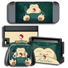 The Legend of Pokemonn Go Snorlax Vinyl Skin Sticker for Nintendo Switch NS Console Protector Cover Decal Vinyl Skin Sticker