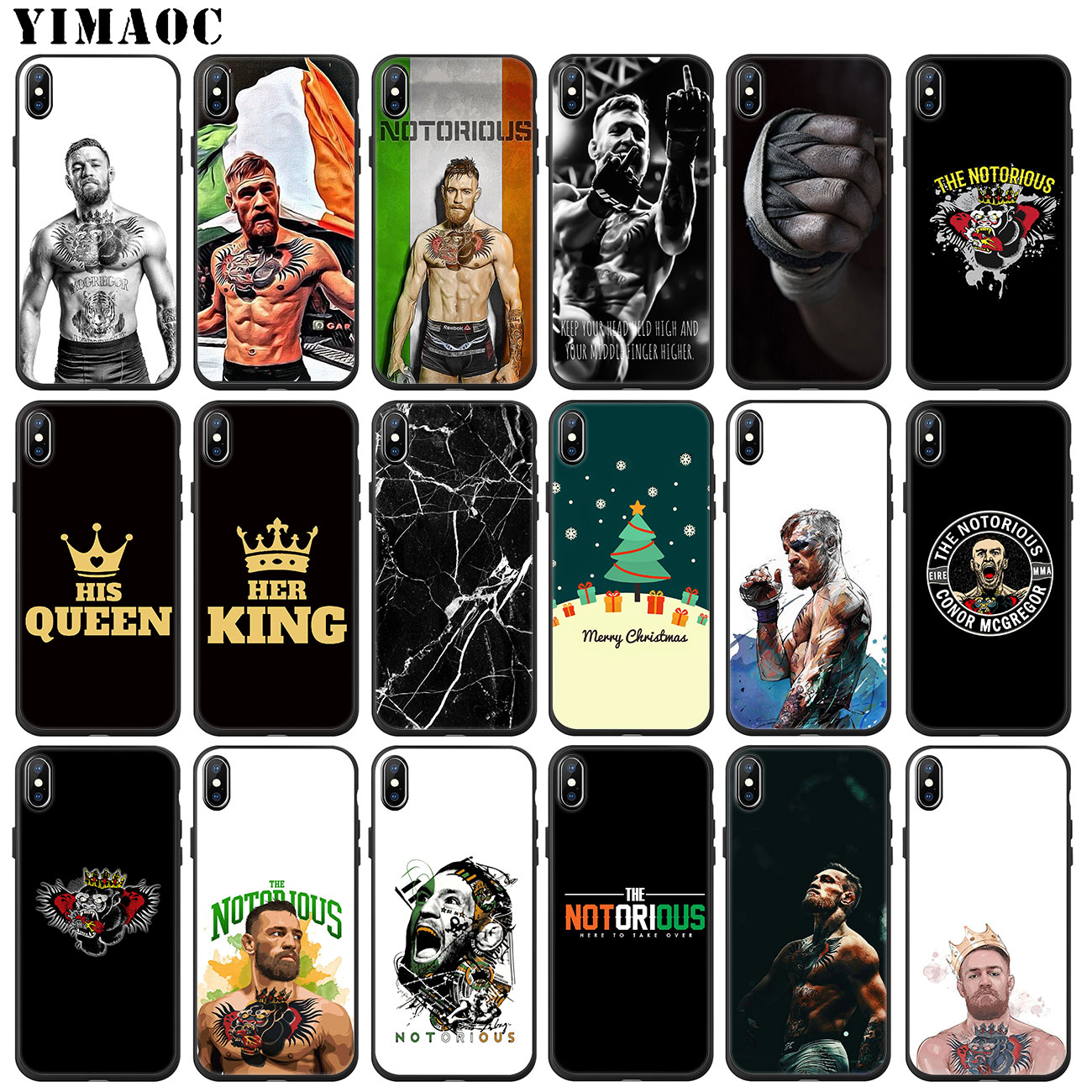 d3f477de0 YIMAOC Conor McGregor cool Soft Silicone Phone Case for iPhone XS Max XR X  6 6S 7 8 Plus 5 5S SE 10 TPU Black Cover