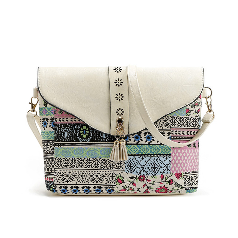 New Style Retro Minimalist Messenger Bag Fashion Small Women Shoulder Bag Tassel