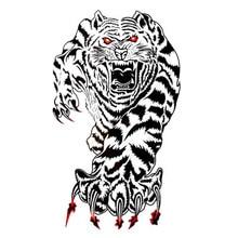 8.5 X 18.5 Cm White Tiger Tattoo Designs Temporary Tattoos Stickers Tatto Man Arm Personality Simulation Fake Tattoo Tiger AX20