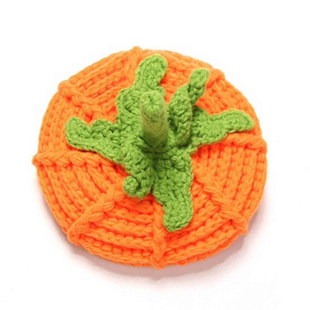 New Style Cute Newborn Baby Cartoon Pumpkin Cap Knit Hat Halloween Costume Photography Prop Kids Girl Boy Hats Drop Shipping Boys' Baby Clothing