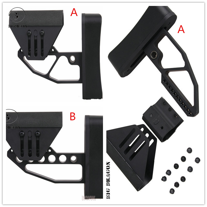 Tactical Support M4 Glr fit BD TB Style Stock he black for Hunting Gun Accessories free