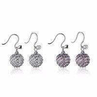 SALE Wholesale Europe Genuine 925 Sterling Silver Earrings Fine Jewelry Jewelry Fit Original Round Earrings For
