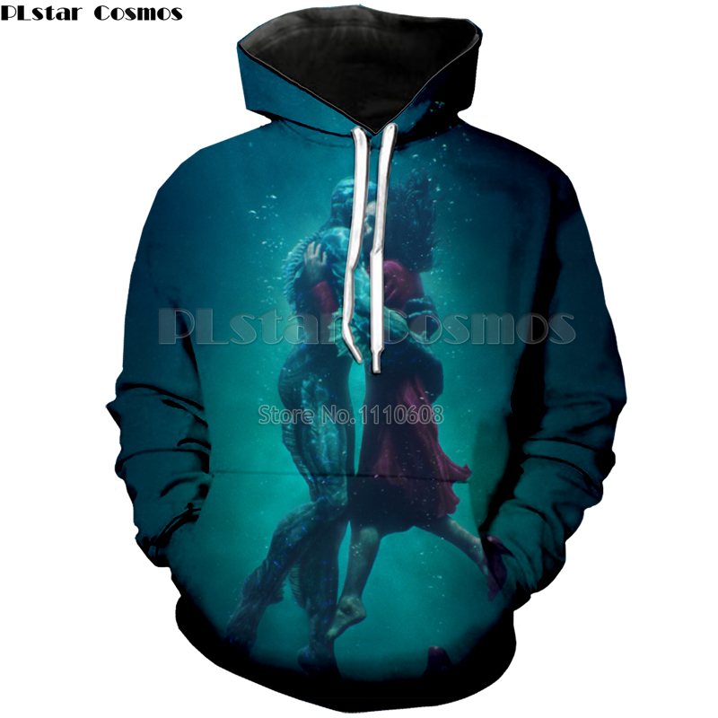 PLstar Cosmos New style The Shape of Water 3d print Hoodies Men/Women Loose Sweatshirts Fashion Casual free shipping Pullovers