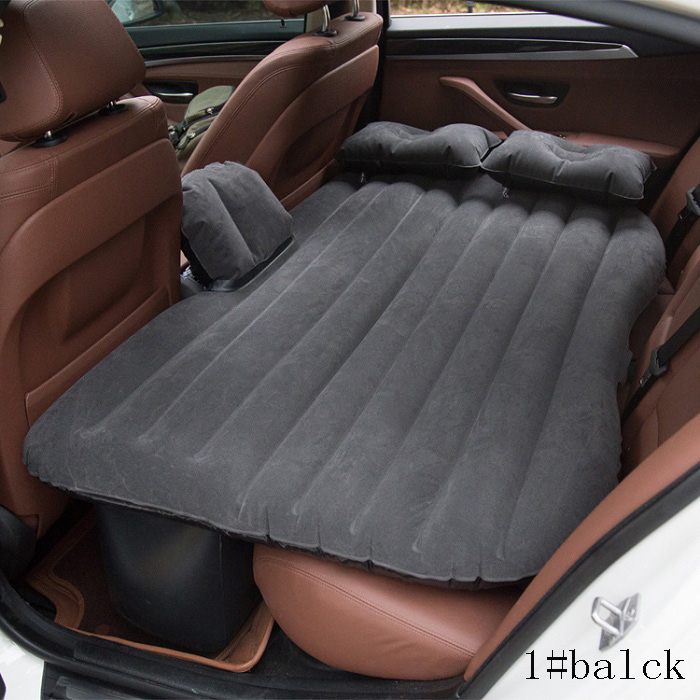 Universal Car Travel Bed Cushion Seat Cover Air Travel Mattress Inflatable Bed waterproof easy Wh