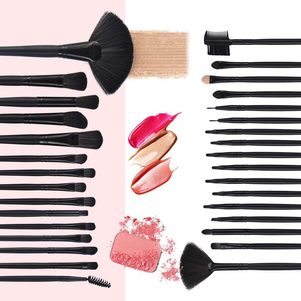 NEW 32 Pcs Soft Makeup Brushes Set Beauty Brushes Gift Cosmetic Tools Kit with Pouch in Eye Shadow Applicator from Beauty Health