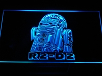 G111 R2-D2 Star Wars Display Rare LED Neon Sign con On/Off Interruttore 20 + Colori a 5 Dimensioni scegliere