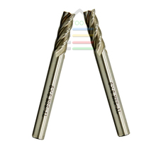 2pcs/set Cnc tool 4 blade diameter 6mm Router Bit Vertical Milling Cutter HSS-Al Carbide End Mill Metal Engraving Bits