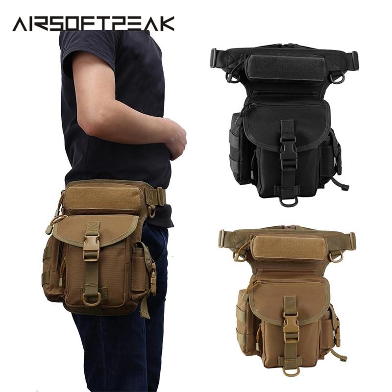 Tactical Leg Bag 150cm Waist Belt Military Drop Leg Pouch 1000D Nylon Pack Hunting Thigh Belt Hip Motorcycle Riding Waterproof
