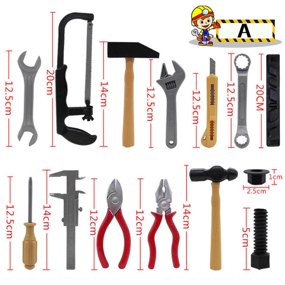 14 шт./компл. инструмент для ремонта игровой домик игрушки модель для ребенка Игрушки для раннего развития домашние пластиковые инструменты для моделирования P20