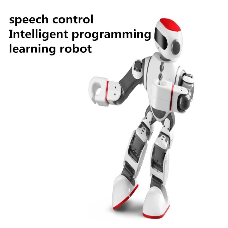 Éducation précoce Robot humanoïde Intelligent smartphone contrôle vocal danse/peinture/Yoga/raconter des histoires Robot modèle jouet pour les enfants