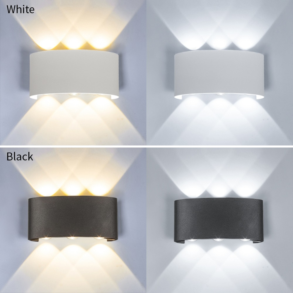 Modern Led Wall Lamp  Indoor Stair Light Fixture Bedside Loft Living Room Up Down  Home Hallway Lampada 2W 4W 6W Wall Sconces 2