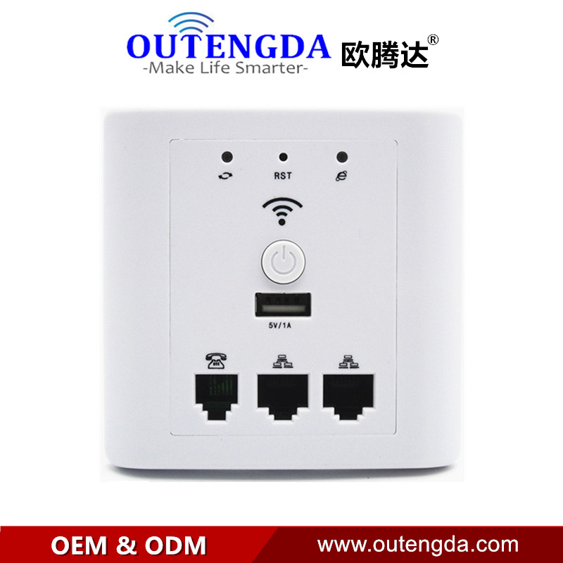 OUTENGDA WPL6009A White Popular WiFi AP High Power Wireless Router Access Point in Wall AP Support POE
