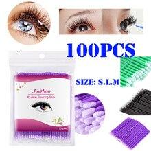 Lápiz de algodón cosmético de limpieza 100 piezas materiales desechables aplicadores de pestañas pincel de pestañas de labios Hisopo de algodon PD