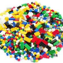 Woma bausteine 1000 stücke diy kreative ziegel spielzeug für kinder pädagogisches kompatibel leping ziegel brinquedos kostenloser versand