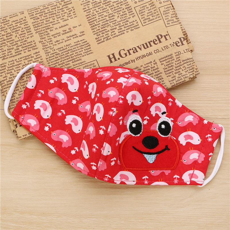 5pcs/Bags Autumn And Winter Children's New Folding Cute Cartoon More Choice Of Dust Anti-haze Breathable Warm Mask