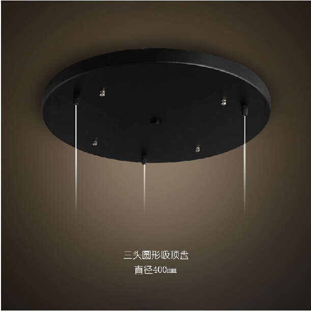 Ceiling Base Plate Vintage Metal Ceiling DIY Lighting Accessories Light Round,Rectangle Black,White foor chandeliers pendant lamp base plate lighting accessories black white round rectangular ceiling base canopy plate lamps chassis