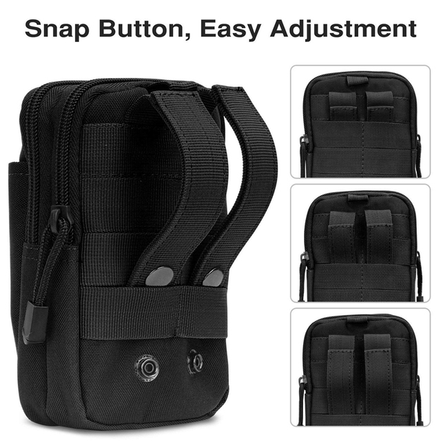 Tactical Molle Pouch Waist Bag Waterproof Nylon Multifunction Casual Men EDC Tool Bag Small Bag Mobile