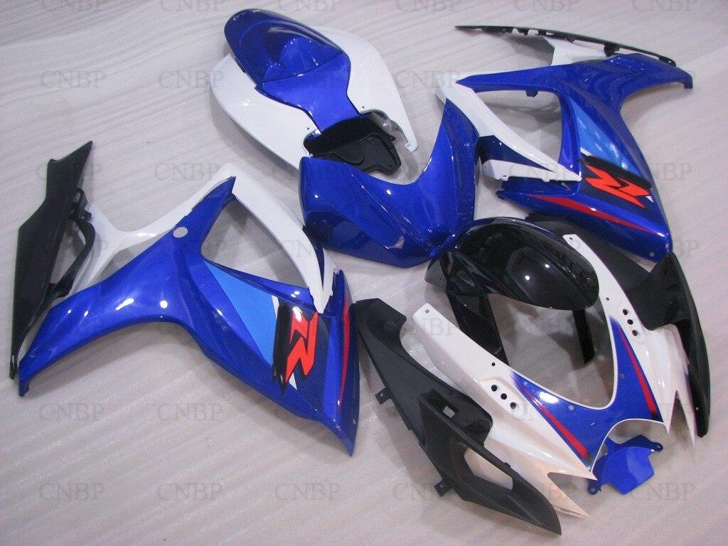 Full Body Kits GSX-R600 07 Motorcycle Fairing GSXR 600 06 2006 - 2007 K6 Blue White Fairing Kits GSXR750 2006 r 07